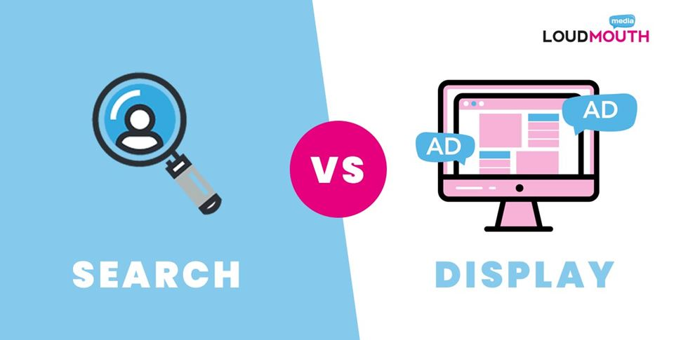 Search Ads vs Display Ads - Which Is Better For Your Business? - Loud Mouth Media
